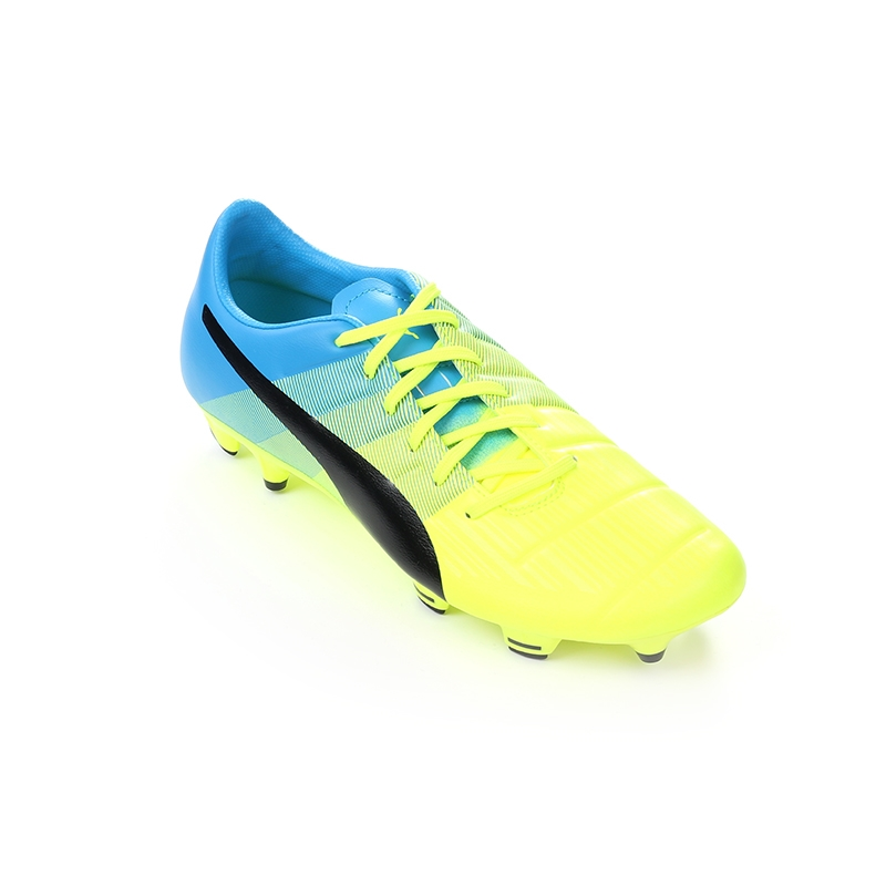 434d90a69 Puma evoPOWER 4.3 Youth FG Soccer Cleats (Safety Yellow/Black/Atomic Blue)