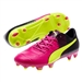 Puma evoPOWER 1.3 Tricks Youth FG Soccer Cleats (Pink Glo/Safety Yellow/Black)
