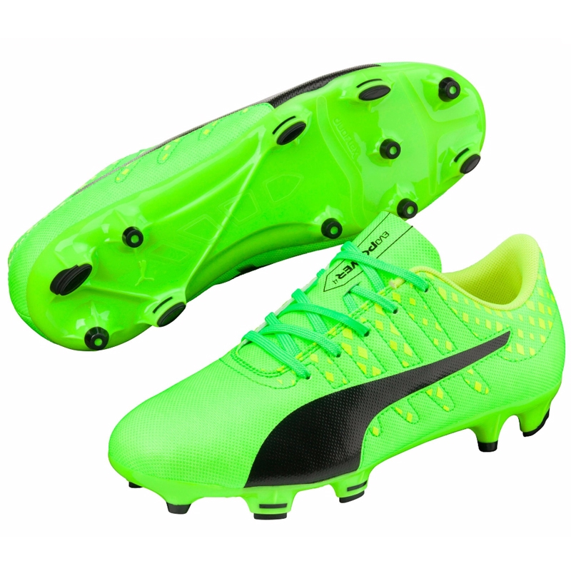 Factory Sale evoPOWER Vigor 4 Men's Indoor Soccer Shoes Mens Green Gecko Puma Black Safety Yellow Puma Mens Soccer Cleats