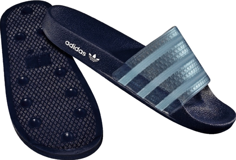 Adidas Originals Adilette Sandal (Navy/Clear)
