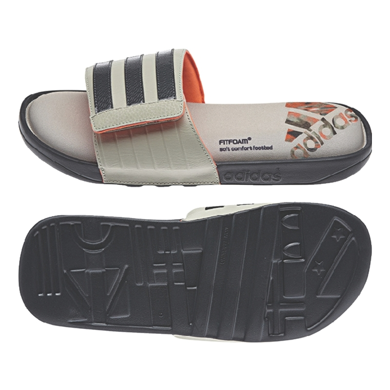 07961e844  31.99 - Adidas adissage Comfort Slides (Grey Sesame Infrared ...