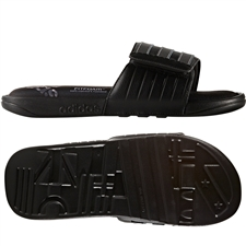 Adidas adissage Comfort Slides (Core Black/Iron/Core Black)