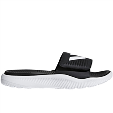 Adidas Alphabounce Slides (White/Black)