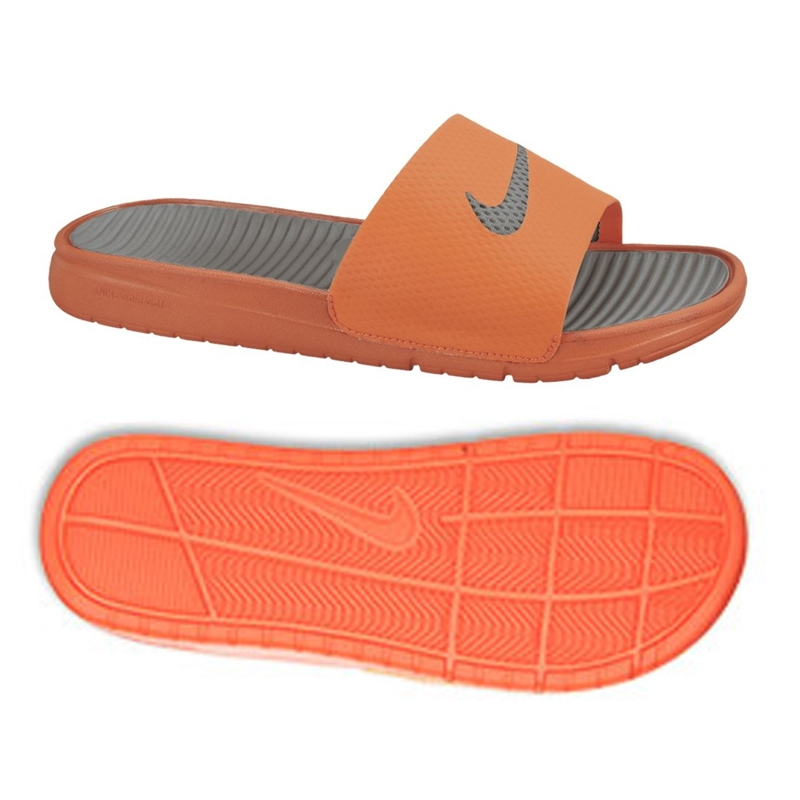 7a19d1c600b5ea Nike Men s Benassi Solarsoft Slide Sandal (Total Orange)