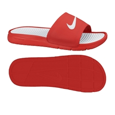 Nike Men's Benassi Solarsoft Soccer Sandal (University Red/White)