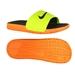 Nike Men's Benassi Solarsoft Soccer Sandal (Volt/ Bright Citrus/Black)
