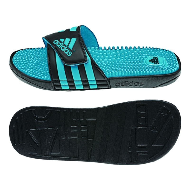 b104d63949134 Adidas Women's adissage Slides (Black/Samba Blue/Black)