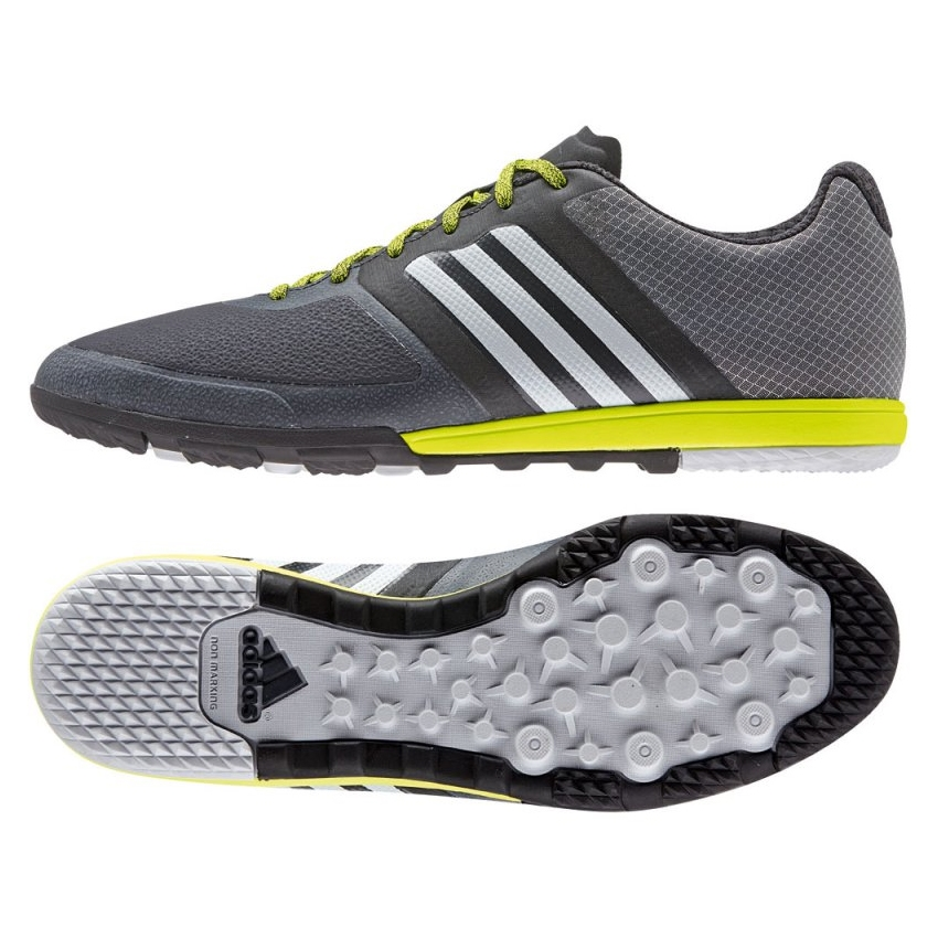 Adidas ACE 15.1 CG Turf Soccer Shoe (Dark Grey/Clear Grey/Solar Yellow