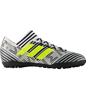 Adidas Nemeziz Tango 17.3 TF Turf Soccer Shoes (White/Solar Yellow/Core Black)