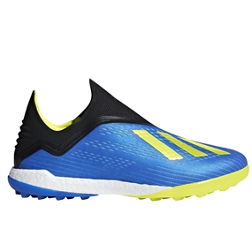 Adidas X Tango 18+ TF Turf Soccer Shoes (Football Blue/Solar Yellow/Black) | Adidas BB6595 |