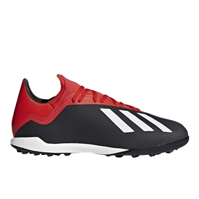 Adidas X Tango 18.3 TF Turf Soccer Shoes (Core Black/Off White/Active Red) | Adidas BB9398 |