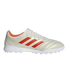 Adidas Copa 19.3 TF Turf Soccer Shoes (Off White/Solar Red/White)