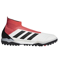 Adidas Predator Tango 18+ TF Turf Soccer Shoes (White/Core Black/Real Coral)