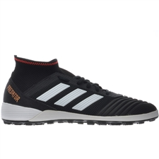 Adidas Predator Tango 18.3 TF Turf Soccer Shoes (Core Black/White/Solar Red)