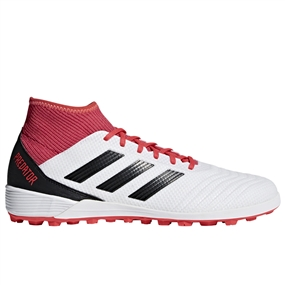 Adidas Predator Tango 17.3 TF Turf Soccer Shoes (White/Core Black/Real Coral)