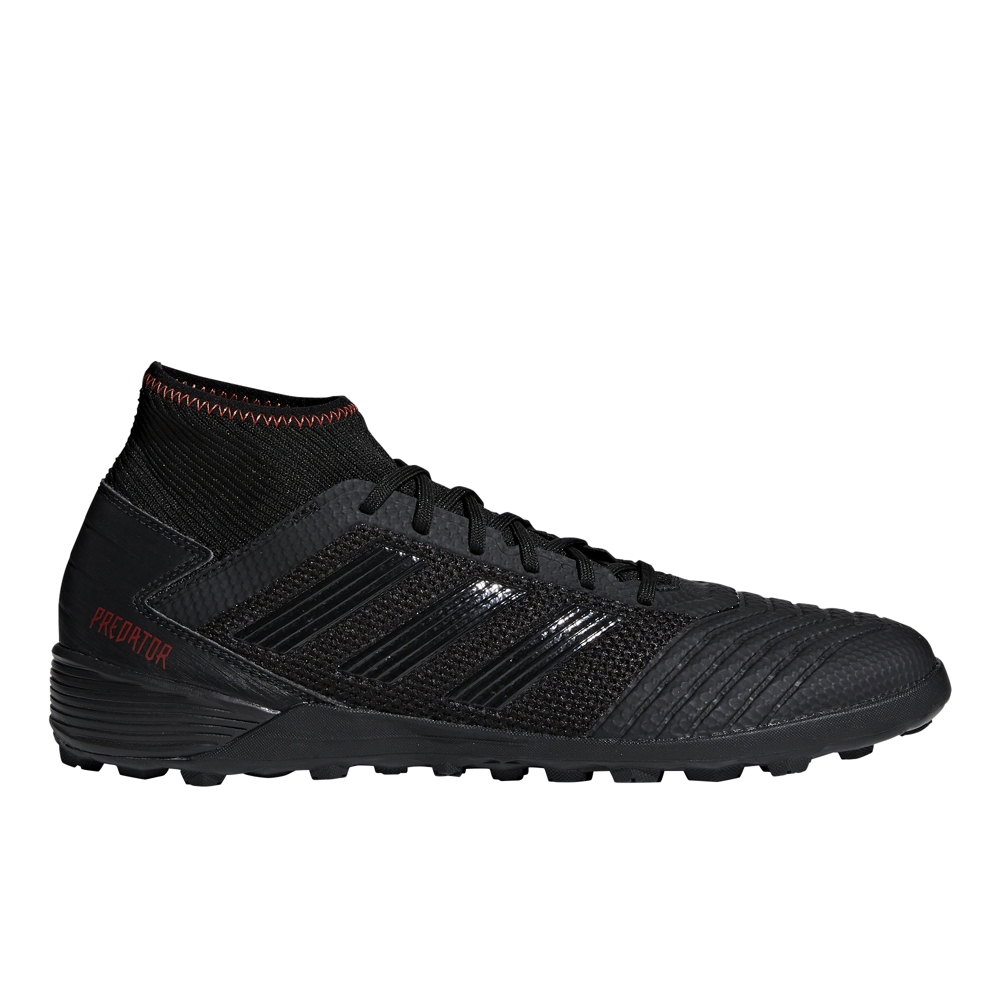 3e8b44ed9a Adidas Predator 19.3 TF Turf Soccer Shoes (Core Black/Active Red)