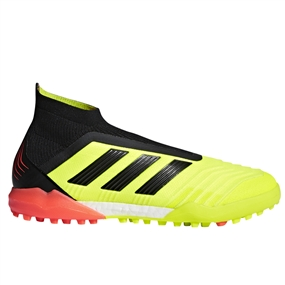 Adidas Predator Tango 18+ TF Turf Soccer Shoes (Solar Yellow/Black/Solar Red)
