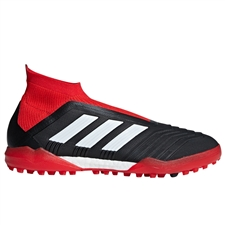 Adidas Predator Tango 18+ TF Turf Soccer Shoes (Black/White/Red)