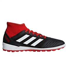 Adidas Predator Tango 18.3 TF Turf Soccer Shoes (Black/White/Red)