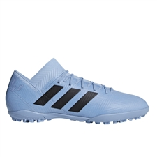 Adidas Nemeziz Messi Tango 18.3 TF Turf Soccer Shoes (Ash Blue/Black/Raw Grey)