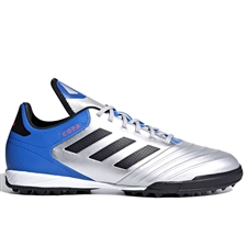 Adidas Copa Tango 18.3 TF Turf Soccer Shoes (Silver Metallic/Black/Football Blue)