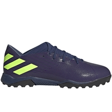 Adidas Nemeziz Messi 19.3 TF Turf Soccer Shoes (Tech Indigo/Signal Green/Glory Purple)