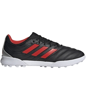 Adidas Copa 19.3 TF Turf Soccer Shoes (Core Black/Hi-Res Red/Silver Metallic)