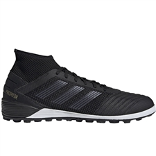 Adidas Predator 19.3 TF Turf Soccer Shoes (Core Black/Gold Metallic)