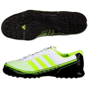 Adidas adi5 X Turf Soccer Shoes (White/Black/Electricity)