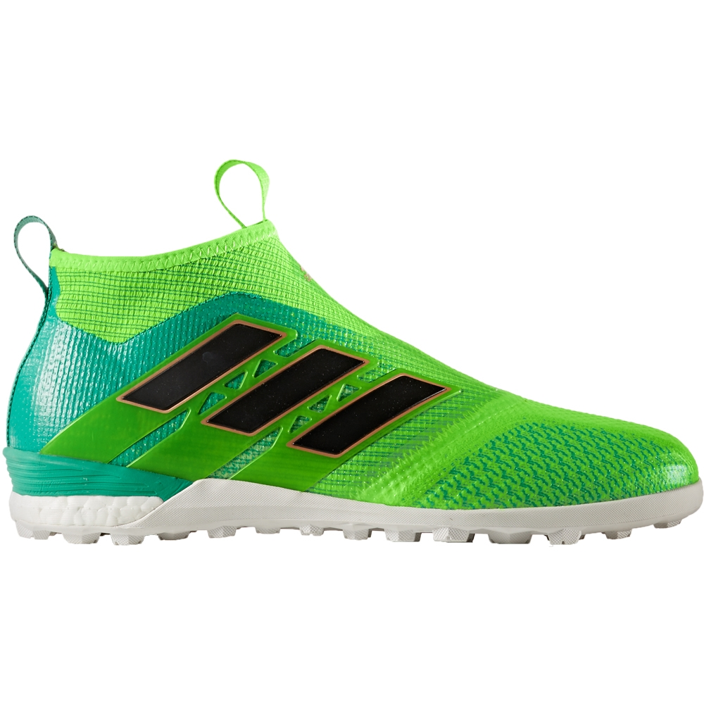Adidas ACE Tango 17+ Purecontrol TF Turf Soccer Shoes (Solar GreenCore Black)