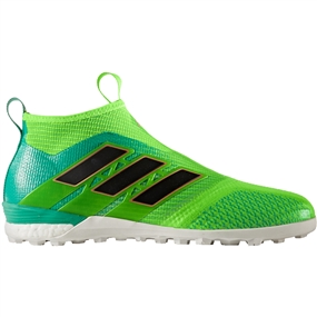 Adidas ACE Tango 17+ Purecontrol TF Turf Soccer Shoes (Solar Green/Core Black)