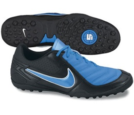 Nike 5 T-3 CT Soccer Shoes (Black/Neptune Blue/Swan)