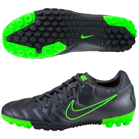 88183792b Nike5 Bomba Pro Soccer Shoes in Grey and Electric Green | Nike Turf Soccer  Shoes | SoccerCorner.com