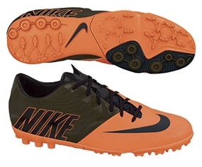 Nike FC247 Bomba Pro II Turf Soccer Shoes (Total Orange/Black/Sequoia)