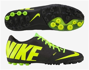 online store 63396 bde4b Nike FC247 Bomba Finale II Turf Soccer Shoes (Black Volt Electric Green)