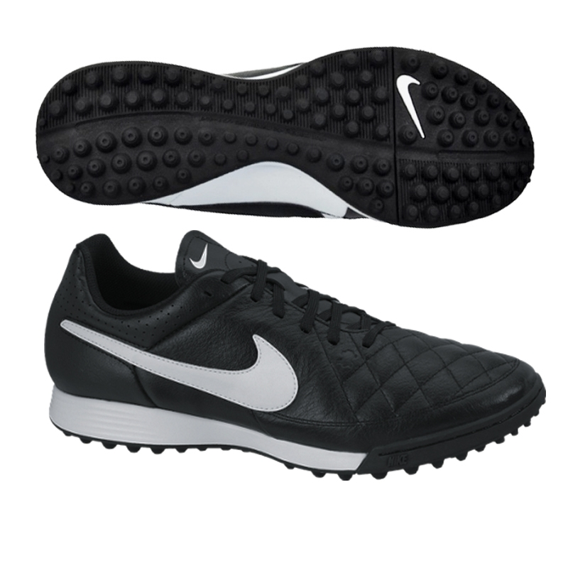 nike tiempo genio soccer turf shoes black white nike