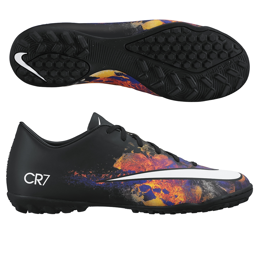 84.99 Add to Cart for Price - Nike Mercurial Victory V CR7 Turf Soccer  Shoes (Black Total Crimson White)  0e2068288