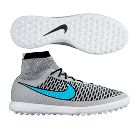 new styles 739e8 f3509 Nike MagistaX Proximo TF Turf Soccer Shoes (Wolf Grey Black Turquoise Blue)