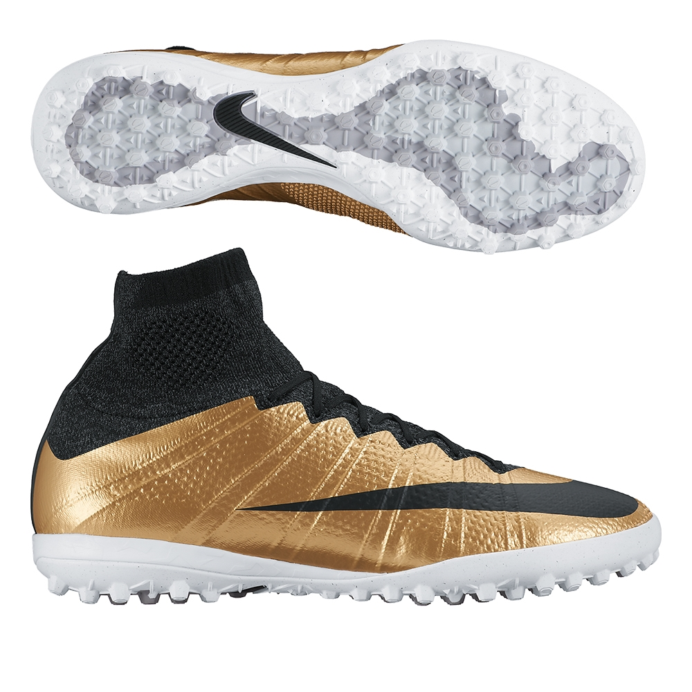 sports shoes 39ad1 82d44 SALE  119.95 Add to Cart for Price- Nike MercurialX Proximo TF Turf Soccer  Shoes (Metallic Gold Grain Challenge Red Black)   Nike Turf Soccer Shoes ...
