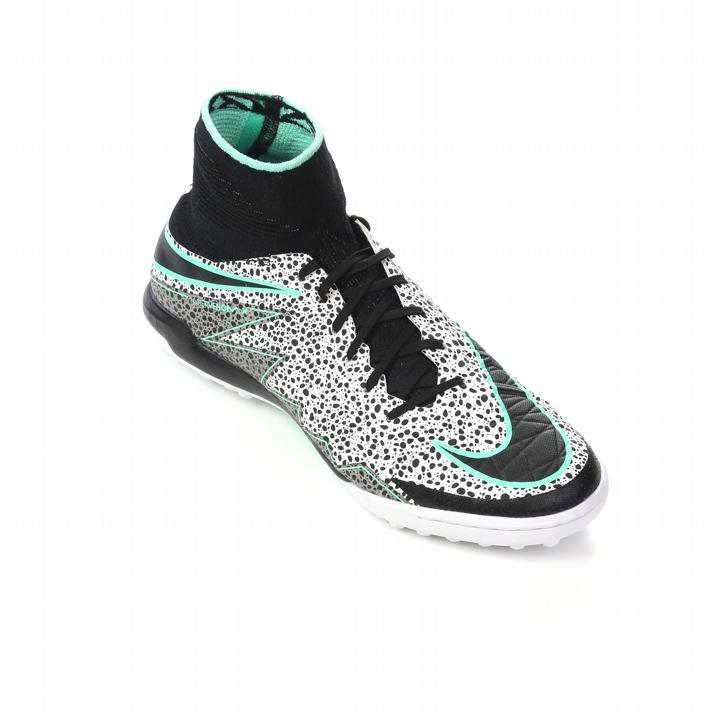 Nike HypervenomX Proximo Street TF Turf Soccer Shoes (White/Green Glow/Black )