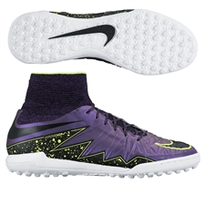 Nike HypervenomX Proximo TF Turf Soccer Shoes (Hyper Grape/Black/Court Purple/Volt)