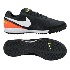 Nike Tiempo Mystic V TF Turf Soccer Shoes (Black/White/Hyper Orange/Volt)