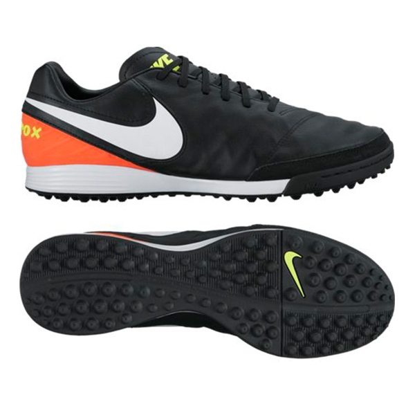 b4bbecad9ea Nike Tiempo Mystic V TF Turf Soccer Shoes (Black White Hyper Orange ...