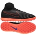 Nike MagistaX Proximo TF Turf Soccer Shoes (Black/Hyper Orange/Paramount Blue)