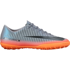Nike MercurialX Victory VI CR7 Turf Soccer Shoes (Cool Grey/Metallic Hematite/Wolf Grey)