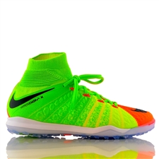 Nike HypervenomX Proximo II DF TF Turf Soccer Shoes (Electric Green/Black/Hyper Orange/Volt)