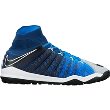 Nike HypervenomX Proximo II DF TF Turf Soccer Shoes (Brave Blue/Black/Photo Blue/Blue Tint)