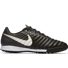 Nike TiempoX Ligera IV TF Turf Soccer Shoes (Black/White)