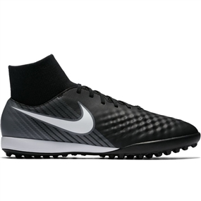 Nike Magista Onda II DF TF Turf Soccer Shoes (Black/White/Cool Grey/Stadium Green)