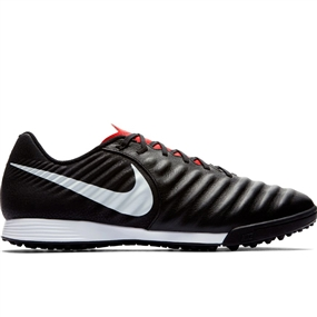 Nike LegendX VII Academy TF Turf Soccer Shoes (Black/Pure Platinum/Light Crimson)